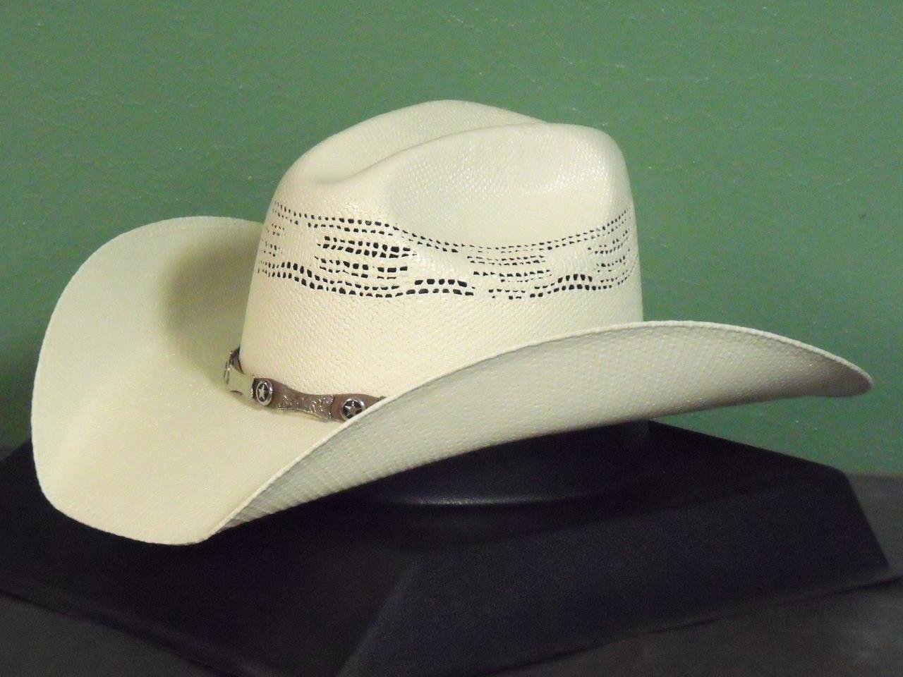 80d4f6fc010 Justin Mesa 20X Bangora Straw Cowboy Hat - One 2 mini Ranch