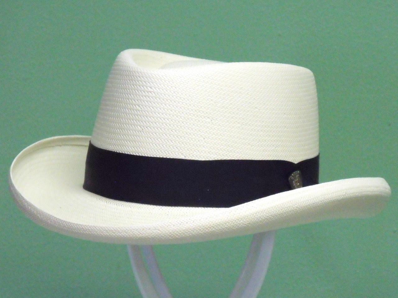 70dd26f0c49b1 Dobbs Basino Shantung Straw Gambler Hat - One 2 mini Ranch