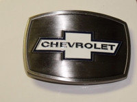 Chevrolet Stainless/Enamel Belt Buckle