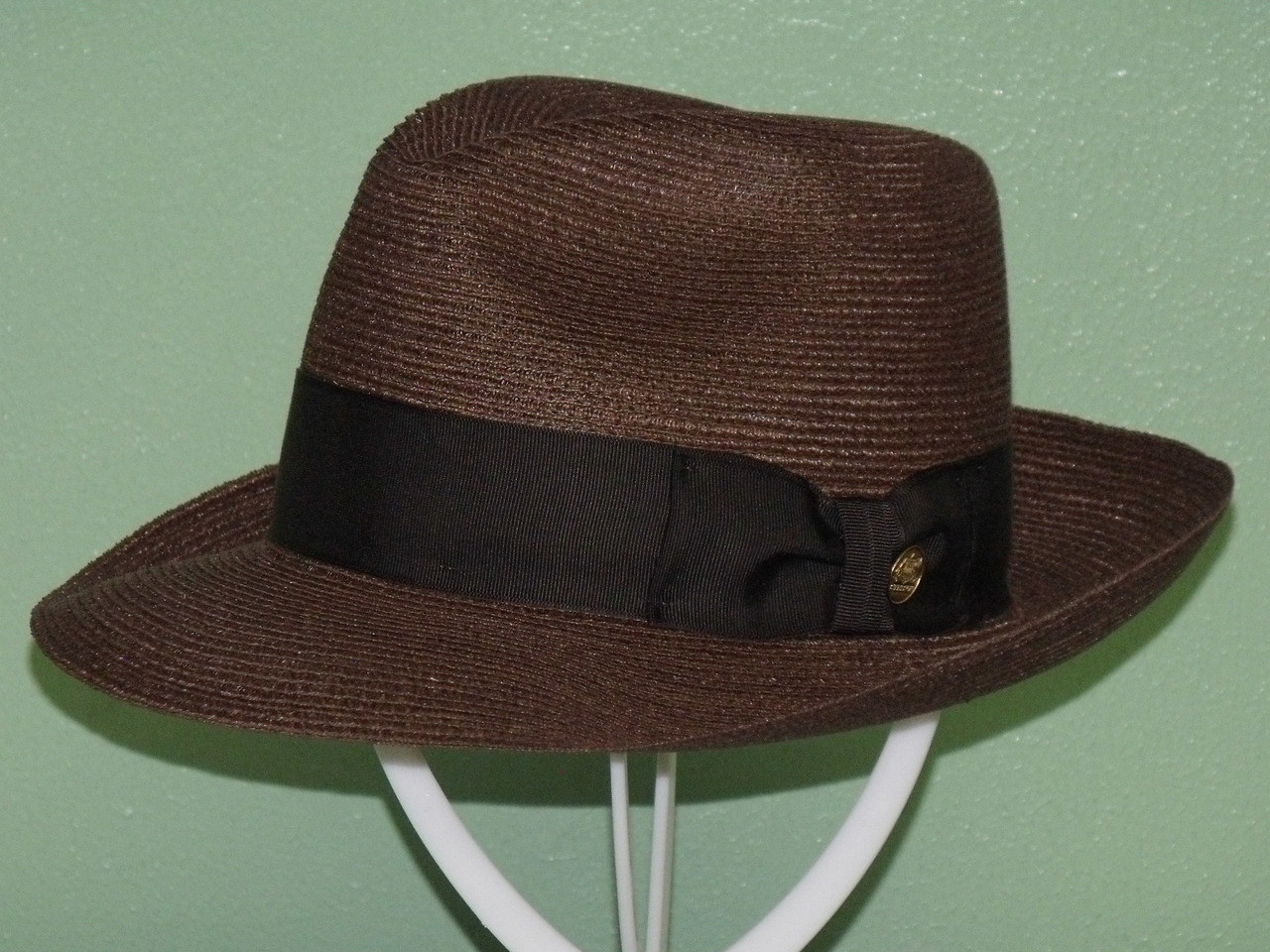 87d68cb006104 Stetson Temple Hemp Braid Fedora Hat - One 2 mini Ranch