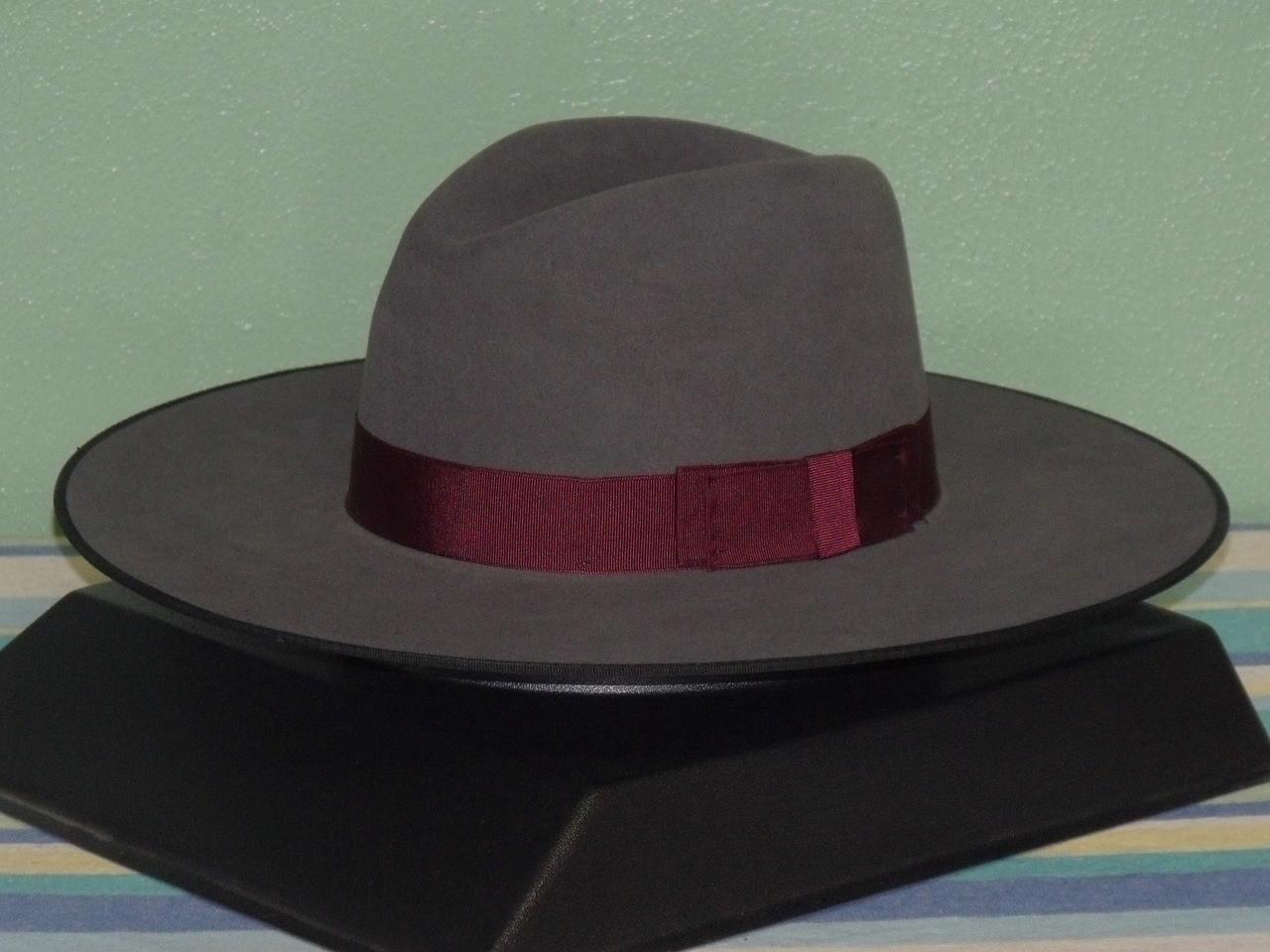 ea1f9061df6a1 Stetson Tri-City Wide Brim Fur Fedora Hat - One 2 mini Ranch