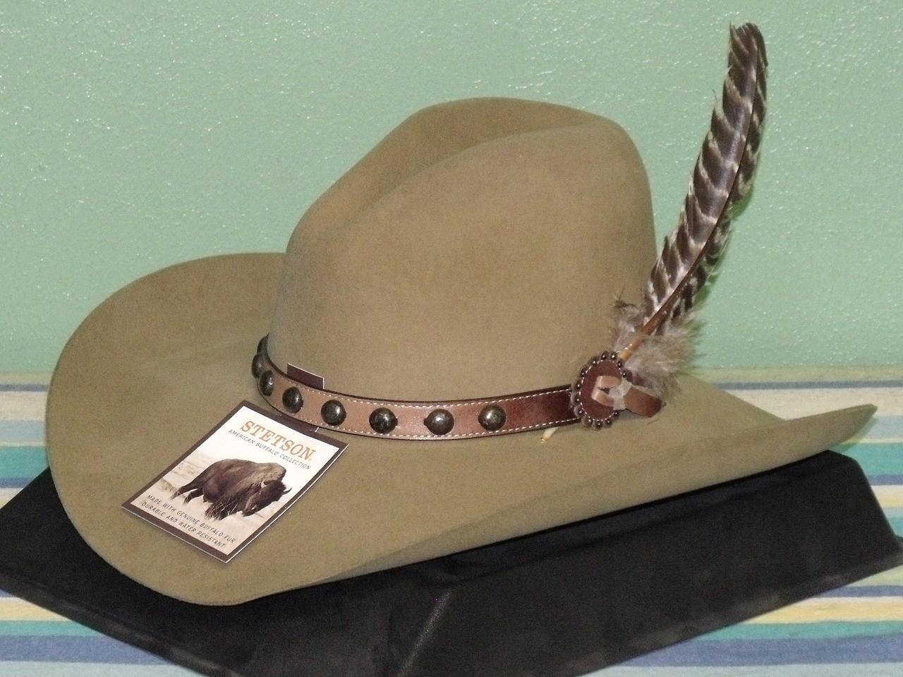 25ea5e170b Stetson Broken Bow Buffalo Wool Cowboy Hat - One 2 mini Ranch