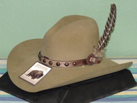 bd5eec6c3210f Justin Henchman 7X Distressed Felt Cowboy Hat - One 2 mini Ranch