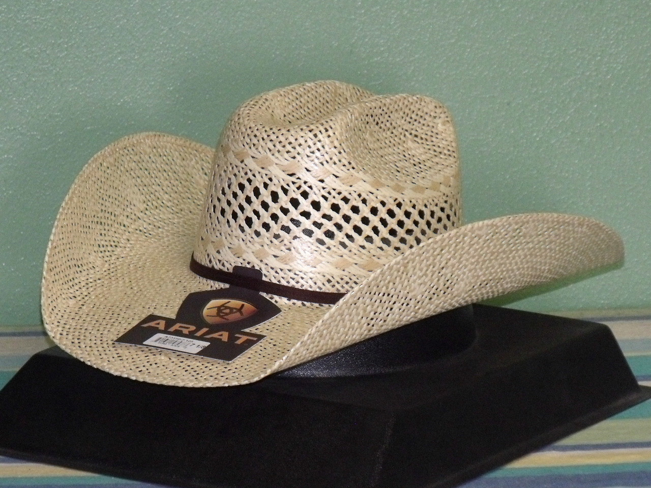 473023e5c7099 Ariat A73150 Twisted Weave Straw Cowboy Hat - One 2 mini Ranch