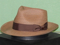 Biltmore Lucca Genuine Hemp Fedora Hat
