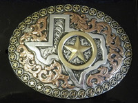 Crumrine Large Texas/Star Western Belt Buckle