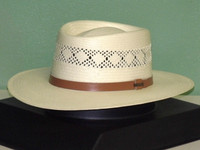 Stetson Brentwood Vented Shantung Straw Gambler hat