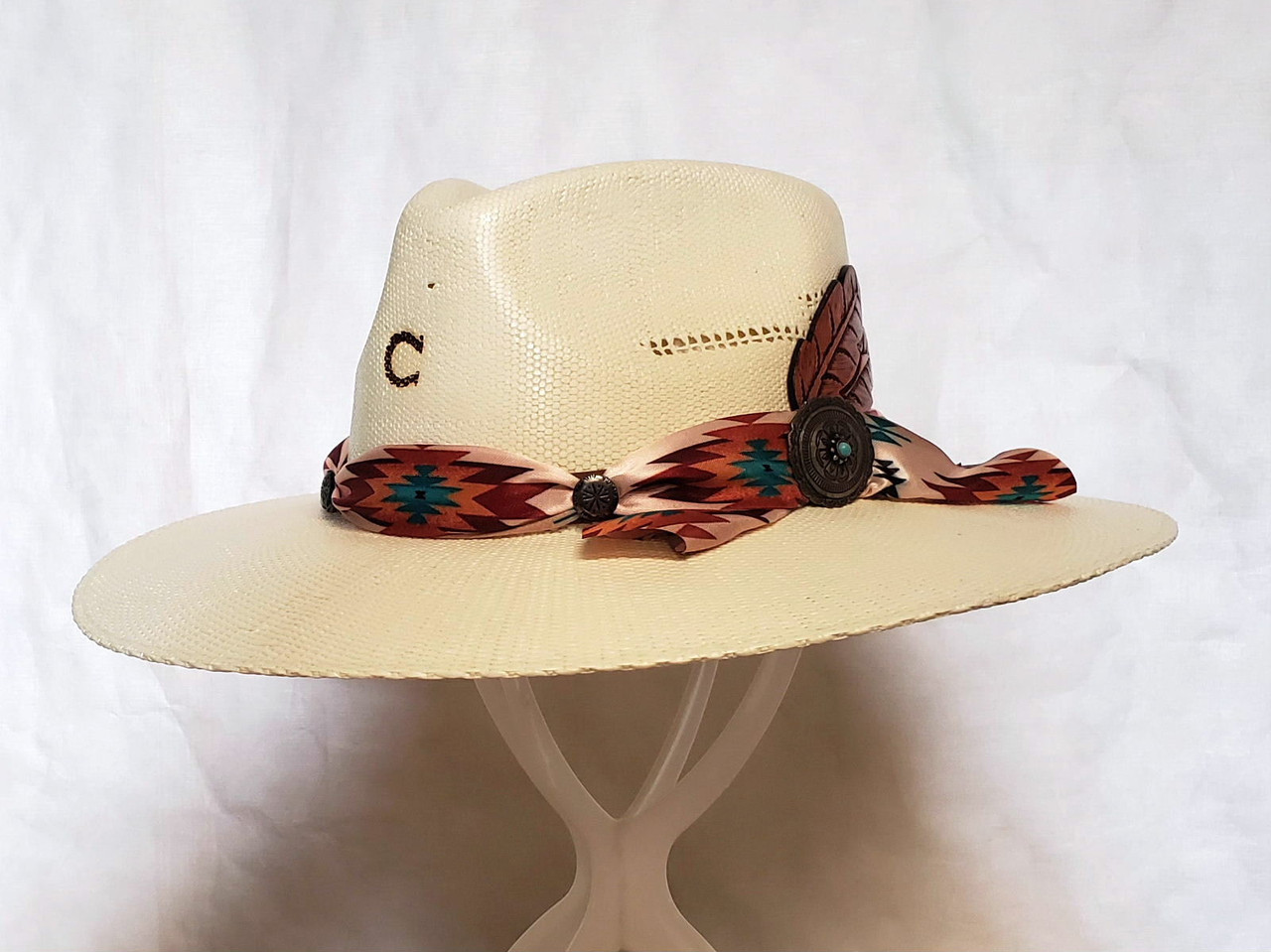 91826a6c3 Charlie 1 Horse Navajo Straw Western Hat - One 2 mini Ranch