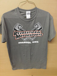 Charcoal cross pistons t-shirt