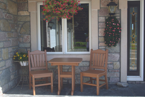 Dining height bistro set in camel by Perfect Choice Furniture at Wapsi Outdoor.