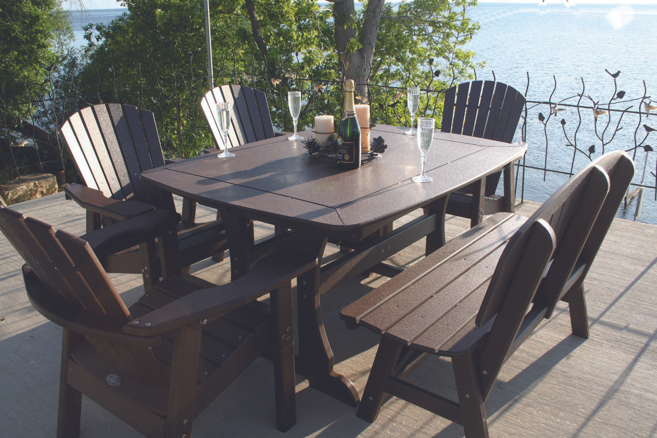 56 Table Adirondack Chairs And Bench Recreational Motorsports