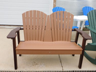 Camel and Mocha park bench by perfect choice furniture at Wapsi Outdoor
