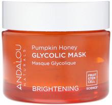 南瓜蜂蜜果酸果凍面膜 Andalou Naturals, Glycolic Mask, Pumpkin Honey, Brightening, 1.7 oz (50 g)