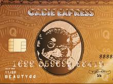 Gabie Express Gold Card 雞肶好運金卡手拿包