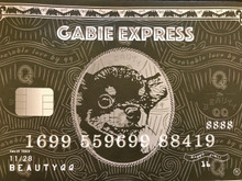 Gabie Express Black Card 雞肶好運黑卡手拿包