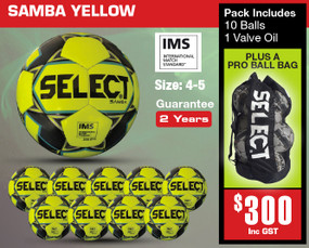 SAMBA YEL/NVY (IMS) BALL PACK [From: $300.00]