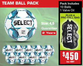TEAM BALL PACK [From: $450.00]