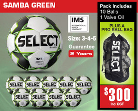 SAMBA WHT/BLK (IMS) BALL PACK [From: $300.00]