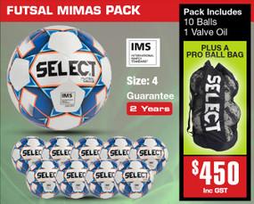 MIMAS YELLOW FUTSAL PACK [From: $450.00]