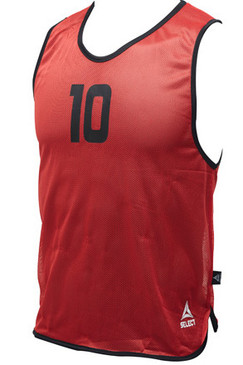 NUMBERED BIBS - RED #1-16