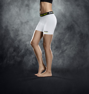 WOMENS COMPRESSION SHORT WHITE [From: $45.00]
