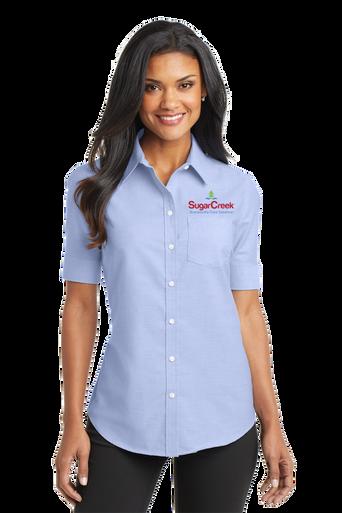 Ladies Short Sleeve SuperPro™ Oxford Shirt
