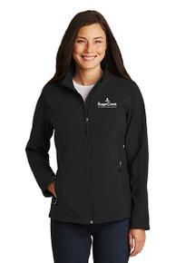 Ladies Core Soft Shell Jacket (Black)