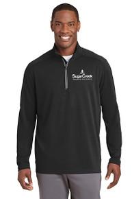 Sport-Tek® Sport-Wick® Textured 1/4-Zip Pullover (Black)