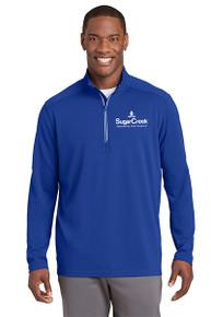 Sport-Tek® Sport-Wick® Textured 1/4-Zip Pullover (Royal)