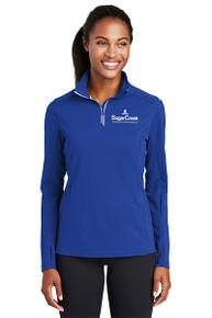Sport-Tek® Ladies Sport-Wick® Textured 1/4-Zip Pullover (Royal)