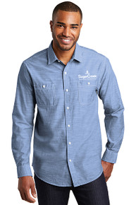 Port Authority® Slub Chambray Shirt (Blue)
