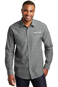 Port Authority® Slub Chambray Shirt (Grey)
