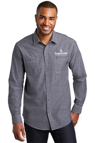 Port Authority® Slub Chambray Shirt (Navy)