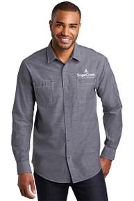 Port Authority® Slub Chambray Shirt (Navy)