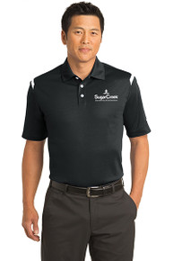 Nike Dri-FIT Shoulder Stripe Polo (Black)