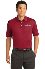 Nike Dri-FIT Shoulder Stripe Polo (Red)