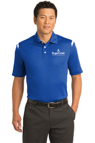 Nike Dri-FIT Shoulder Stripe Polo (Royal)