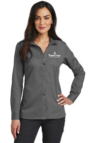 Red House® Ladies Nailhead Non-Iron Shirt (Black)