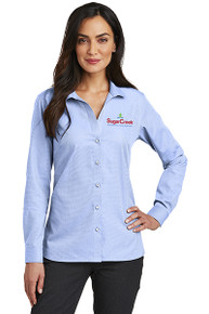 Red House® Ladies Nailhead Non-Iron Shirt (Blue Pearl)