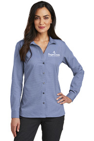 Red House® Ladies Nailhead Non-Iron Shirt (Navy)