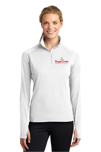 Ladies Sport-Wick Stretch 1/2 Zip Pullover