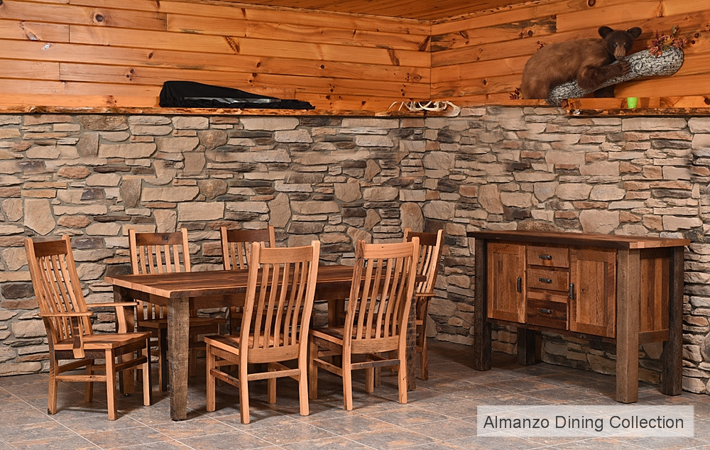 Almanzo Reclaimed Wood Dining Collection