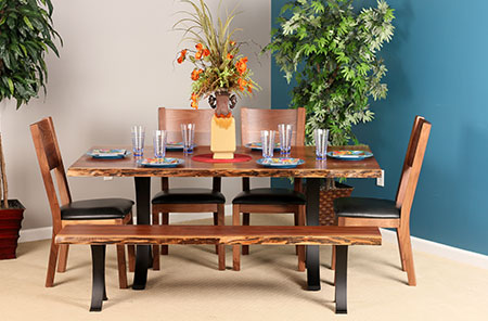 Live Edge Walnut Dining Collection