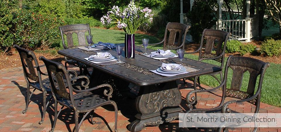 St. Mortiz Cast Aluminum Outdoor Dining Collection