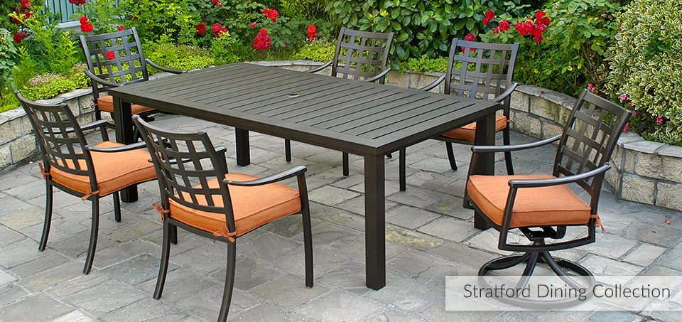 Stratford Cast Aluminum Outdooor Dining Collection