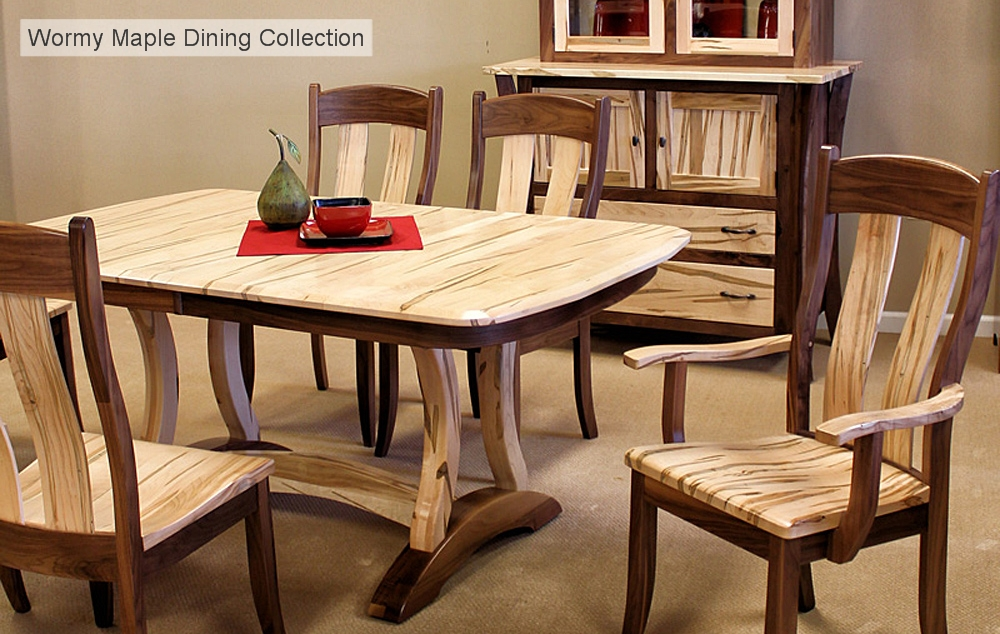 Wormy Maple Dining Collection