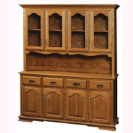 Amish Handcrafted Country 4 Door Hutch 67