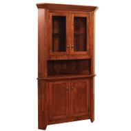 Amish Handcrafted Frontier Corner Hutch 510