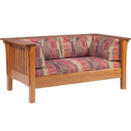Amish Handcrafted 1800 Mission Loveseat