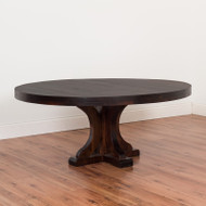 "Amish Handcrafted 72"" Round Rustic Carlisle Table"